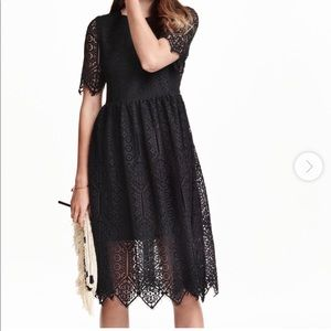 Women's H&M black lace Dress sz 10